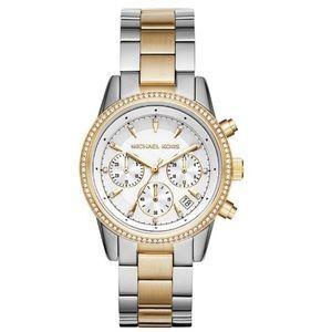 Michael Kors 2 tone Parker Watch